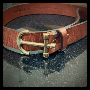 Crewcuts boy anchor leather belt waist 28